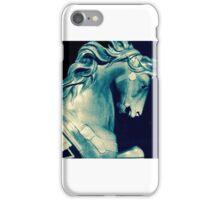 carousel pony in blue. VividScene iPhone Case/Skin