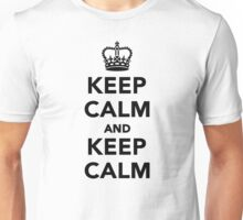 Keep calm and keep calm Unisex T-Shirt