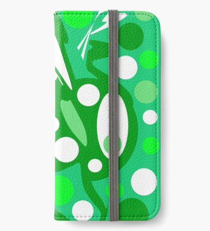 Green and white decor iPhone Wallet/Case/Skin