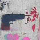 Flower Power (stencil graffiti) by Steve Campbell