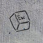 Escape Key (stencil graffiti) by Steve Campbell