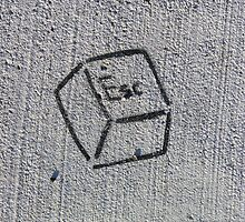 Escape Key (stencil graffiti) by Steve Campbell