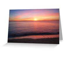 Calm Sunset Aberystwyth Greeting Card