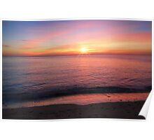 Calm Sunset Aberystwyth Poster