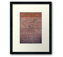 Brick Wall with Earthquake Retrofitting Framed Print