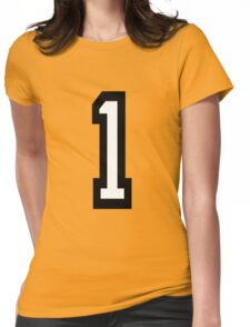 Number 1 Womens Fitted T-Shirt