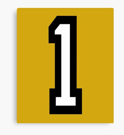 Number 1 Canvas Print