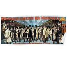 Performing Arts Posters Primrose Wests Big Minstrels all white performers 1880 Poster