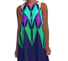 Batwings - Tess colourway A-Line Dress