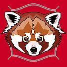 Red  Panda by GlitterZombie