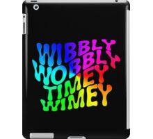 Wibbly Wobbly Timey Wimey Rainbow iPad Case/Skin