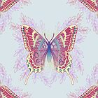 Beautiful Colorful Butterfly Design by oursunnycdays