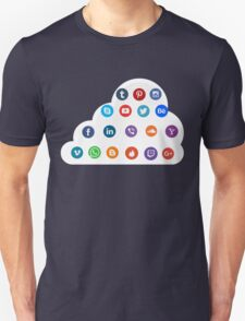 Social Media Cloud Icons Unisex T-Shirt