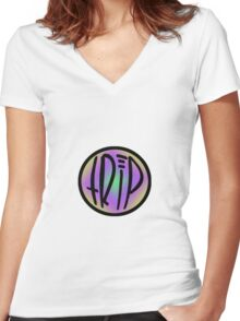 logo with colour Women's Fitted V-Neck T-Shirt