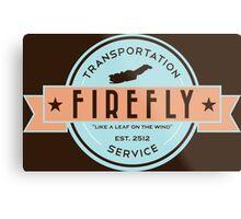 Firefly Transportation Metal Print