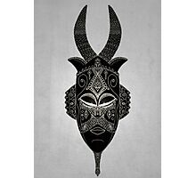 Horned tribal mask Photographic Print