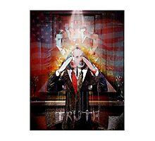 Remastered Portrait of Stephen Colbert Photographic Print