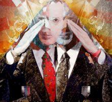 Remastered Portrait of Stephen Colbert Sticker