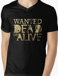 Wanted Dead or Alive Mens V-Neck T-Shirt