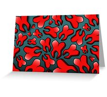 Raining Red Tooth Greeting Card