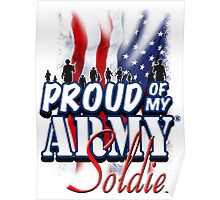 Proud of my Army Soldier Poster