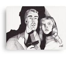Film Noir with a Gun Canvas Print