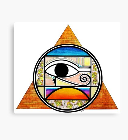 Symbol of Egypt (Colored) Canvas Print