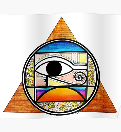 Symbol of Egypt (Colored) Poster