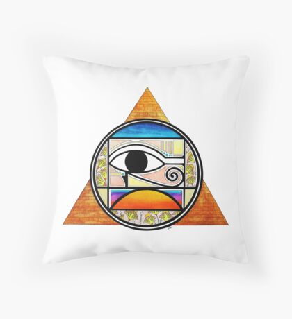 Symbol of Egypt (Colored) Throw Pillow