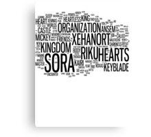 Kingdom Hearts Word Cloud Canvas Print