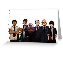 Voltron in black Greeting Card
