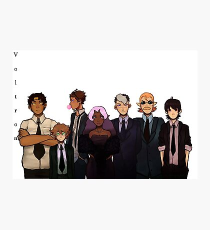 Voltron in black Photographic Print