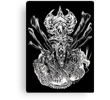 LONG LIVE THE QUEEN (black and white) Canvas Print