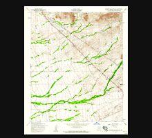 USGS TOPO Map Arizona AZ Superstition Mts SW 313615 1956 24000 Unisex T-Shirt