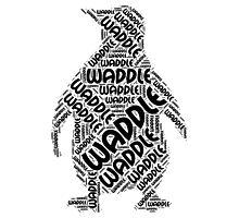 Waddle Waddle Photographic Print