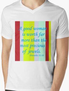 A Good Woman Mens V-Neck T-Shirt