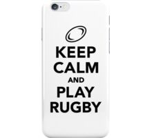Keep calm and play Rugby iPhone Case/Skin