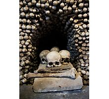 Skulls and bones Photographic Print