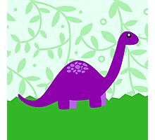 Purple Dino Photographic Print