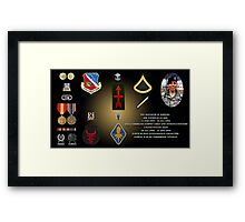 Kenneth M Koepke's Military Memorial Framed Print