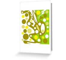Green and yellow decor Greeting Card