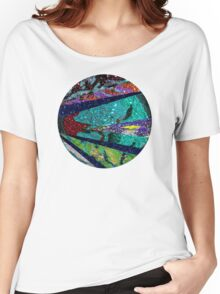 Peacock Mermaid Lavender Abstract Geometric Women's Relaxed Fit T-Shirt