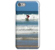 Surfing at Newquay iPhone Case/Skin