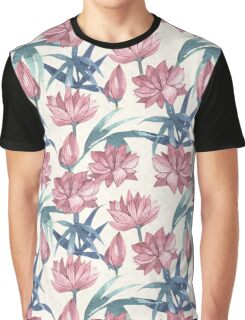 Oriental Flowers Graphic T-Shirt