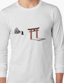 The Last ninja prayer on white Background Long Sleeve T-Shirt