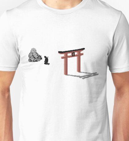 The Last ninja prayer on white Background Unisex T-Shirt