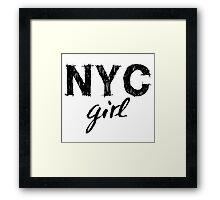 New York City girl Framed Print