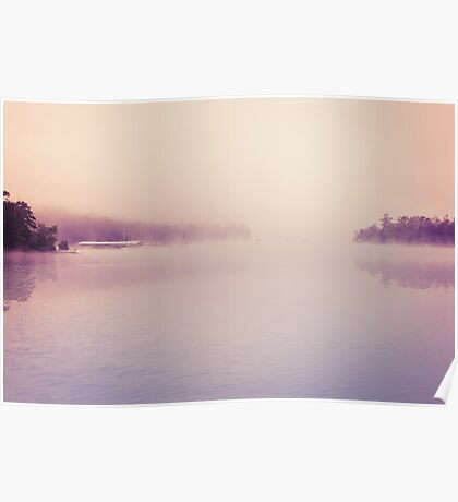 Nature Dreamscape Foggy Morning Poster