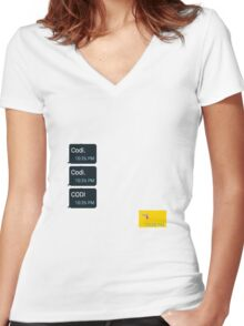Codi. Women's Fitted V-Neck T-Shirt