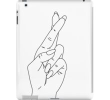 Fingers Crossed iPad Case/Skin